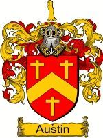 AUSTIN Family Crest / AUSTIN Coat of Arms  This name AUSTIN has been on record in Ireland since the early fourteenth century, an English sur...