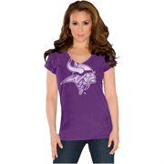 Touch by Alyssa Milano Minnesota Vikings Field Goal V-Neck Slim Fit T-Shirt - Purple