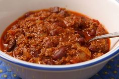 This is the best chili recipe you'll ever make. It was the blue ribbon winner at a chili cook-off, garnering a prize worth $20,000 according to the recipe book it came from. With surprise ing…