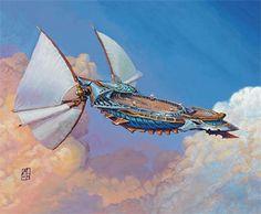 Skyship Weatherlight from MTG Magic the Gathering