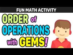 Learn why GEMS is a better order of operations mnemonic than PEMDAS, and why the PEMDAS rule and the BODMAS rule are ineffective in math! What does GEMS stan. Fun Math Activities, Fifth Grade Math, Order Of Operations, Math About Me, Math Word Problems, Guided Math, Math Lessons, How To Memorize Things, Catchphrase