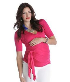 NEW! Bella Wrap Around Short Sleeve Maternity Top $80.00