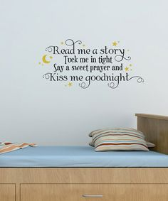 Use an inspiring wall quote to personalize a nursery or child's room. The lovely message will light up any child's day with its positive outlook and modern design.