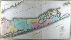 Section from An Atlas Of The State Of New York by David H. Burr. New York: D. H. Burr, 1829 (Special Collections, Stony Brook University Libraries, Oversize xxx G1250 .B87 1829).