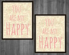 You make me happy Art-bedroom wall decor by Raising3Cains on Etsy