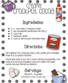 Creamy Crock Pot Cocoa - from Farmhouse Favorites!