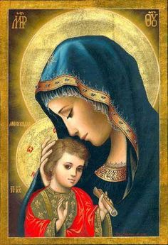 Mother Mary and Jesus Blessed Mother Mary, Divine Mother, Blessed Virgin Mary, Religious Pictures, Religious Icons, Religious Art, Madonna Und Kind, Madonna And Child, Mama Mary
