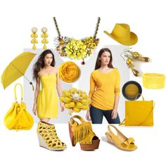 @BluKatDesign Solar Power pantone yellow fashion, vintage flower statement necklace