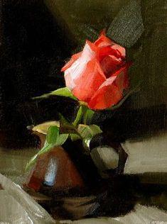 """Fervent Romance"" - Original Fine Art for Sale - © Qiang Huang"