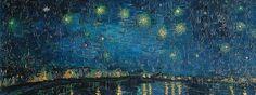 """""""Du chaos naissent les étoiles"""" Charlie Chaplin  La Nuit étoilée sur le Rhône de Van Gogh @vangoghmuseum"""