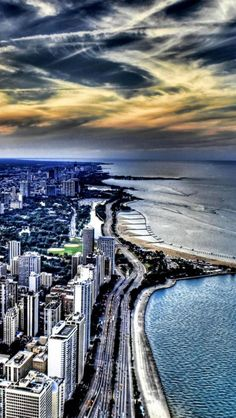 Coastline, Chicago, Illinois, United States,