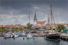 Christian Müringer - Hafen von Rönne auf Bornholm im Regen