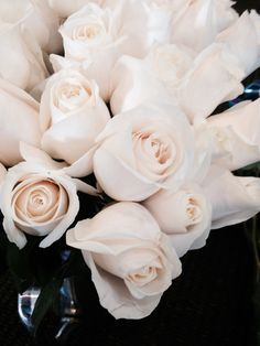 White roses for the bridesmaids