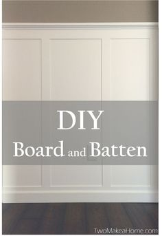 $30 DIY Board and Batten - Our front entryway needed a big time refreshing. It faces the north, so it doesn't ever get a lot of natural light and it was just to