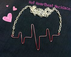 Hot Heartbeat Necklace  •  Free tutorial with pictures on how to make a wire…