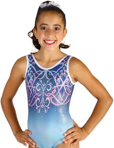 Your gymnast will adore this Winter Princess sublimated leotard. This  beautiful leotard has graceful swirls in pinks and lavenders over a  background of icy ... 59b41080b1