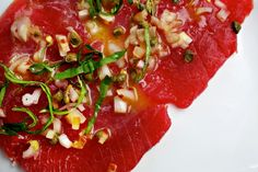 Tuna Crudo With Lemon Vinaigrette