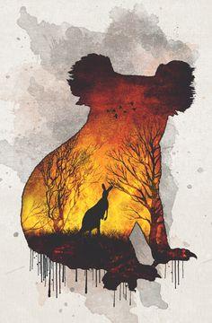 Australia by AndrejZT on DeviantArt Drawing Sketches, Art Drawings, Environmental Posters, Deep Art, Art Plastique, Art Sketchbook, Climate Change, Cool Art, Art Projects