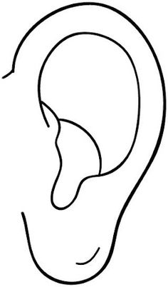 Ears Coloring Pages For Kids 4 - Ears Coloring Pages For Kids Bible School Crafts, Bible Crafts, Human Ear, Human Body, Science Lab Decorations, Hearing Sounds, Senses Activities, Learning Sight Words, Kids Class