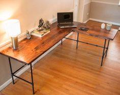 Reclaimed desk industrial wood desk industrial desk wood