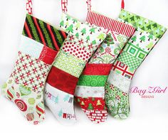 YOUR CHOICESet of 4 PatchworkChristmas by Bagzgirl on Etsy, $82.00