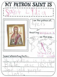 patron saint report notebooking printable 3