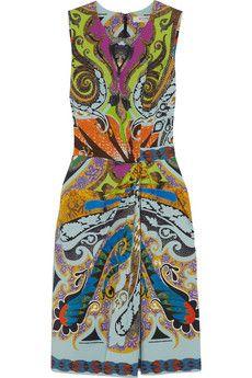 Etro Printed stretch-cotton dress   NET-A-PORTER