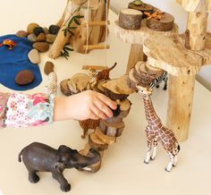 """DIY Simple Treehouse for imaginative play. i think i might need to make this for a Christmas present for our oldest who loves the """"magic tree house"""" books Projects For Kids, Diy For Kids, Gifts For Kids, Design Thinking, Waldorf Toys, Imaginative Play, Pretend Play, Diy Toys, Handmade Toys"""
