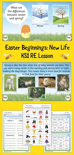 During this first lesson in the Easter Beginnings scheme of work your class will explore the seasons and the differences between them. Children will also learn about how people celebrate new life at this time, and will start to explore Easter. The activities supplied with this lesson include an engaging sorting activity as well the opportunity to go on a spring scavenger hunt! This lesson pack includes a detailed plan, an informative slide show and a range of differentiated worksheets. Easter Basket Template, Teaching Weather, Slideshow Presentation, Sequencing Pictures, Maundy Thursday, Easter Story, Sorting Activities, Jesus Lives