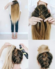 18 No Heat Hairstyles Everyday heat styling can be damaging for your hair. That's why we've gathered some of the best and elegant no heat hairstyles for you. These Hairstyles take just a few minutes and the effect is as if you've really spent much time. Easy Everyday Hairstyles, Easy Hairstyles For School, No Heat Hairstyles, Hairstyles 2018, Trendy Hairstyles, Fashion Hairstyles, Heatless Hairstyles, Gorgeous Hairstyles, Greasy Hair Hairstyles