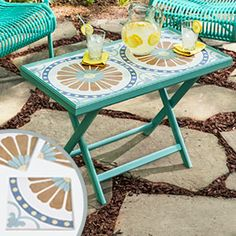 Follow these simple steps for making a left-over tile table.