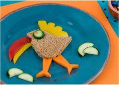 Inspiration - Kids Fun Foods  Bird sandwich