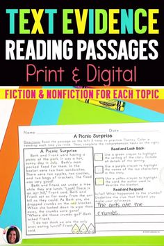 Over 170 reading passages for the ENTIRE year! NOW DIGITAL! This reading comprehension bundle pack includes all four of my seasonal Text Based Evidence Reading Passages in one discounted bundle! Your students will tackle close reading skills, comprehension, fluency, vocabulary skills, and written response skills...all within ONE reading passage! Small Group Reading, Reading Groups, Student Reading, Close Reading, Reading Levels, Reading Strategies, Reading Skills, Teaching Writing, Writing Activities