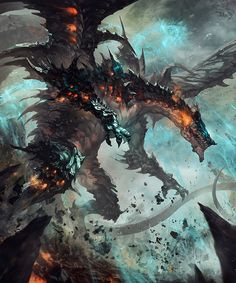 Dragon King of Destruction – fantasy concpt by Antilous chao