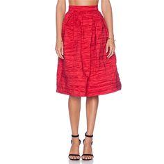 VIVIAN CHAN Natalie Skirt in Red
