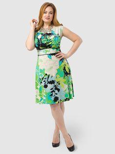0334a0e7e7f Green Floral A-Line Dress by London Times