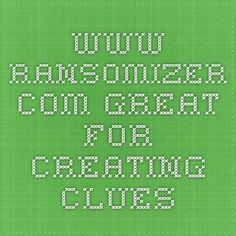 www.ransomizer.com - Great for creating clues Spanish Classroom, Classroom Ideas, Breakout Edu Games, Breakout Boxes, Escape Room, Library Ideas, Spy, Parties, Tech