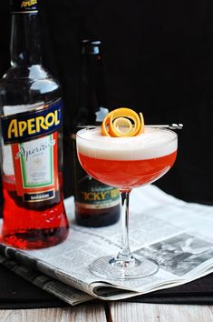 13 aperol cocktails recipes for spring and summer. Aperol is a citrus-based aperitif with a low-alcohol content, like Campari but sweeter in taste. The light, crisp flavors are perfect warm weather alcoholic cocktails. For more recipes go to Domino. Beer Cocktail Recipes, Cocktail Garnish, Champagne Cocktail, Cocktail Drinks, Cocktail Night, Cocktail Desserts, Aperol Drinks, Alcoholic Cocktails, Fernet Branca Cocktails