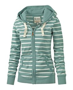 Dakota Stripe Hoody at Fat Face