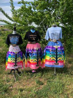 Jingle Dress, Ribbon Skirts, Native Design, Native American Beading, Ribbon Work, Vintage Scarf, Dress Skirt, Applique, Vest