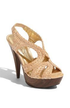 Jessica Simpson 'Gift' Sandal in Rose Gold