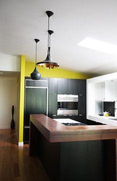 Mod Black and White Kitchen modern kitchen