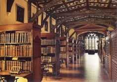 Duke Humfrey's Library, the oldest reading room in the Bodleian Library at the University of Oxford, UK. Duke Humfrey's Library was used as the Hogwarts library in the Harry Potter films.