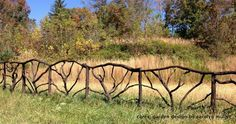 Unique wood fence made of branches