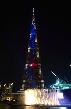 Pin for Later: Cities of the World Pay Tribute to Paris Following the Recent Terrorist Attacks Dubai, UAE