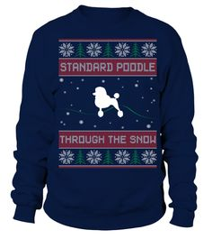 # Standard Poodle Through The Snow .  Standard PoodleThrough The Snow