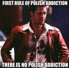 Rule 1 nail polish addiction (20 Funny Nail Finds via @Inspirationail)