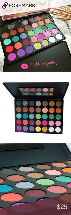 """Eyeshadow palettes in """"Summer Bliss"""" Create that dazzling look with our beautiful """"Summer Bliss"""" Palette. With this 35 color palette of shades with popping color you can amp up your every day look or add glam to that night out! Make It Look Fabulous Makeup Eyeshadow"""