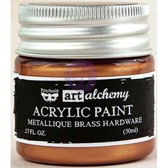 Finnabair Art Alchemy Acrylic Paint - Metallique Bronze