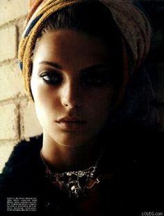 Daria Werbowy for Vogue Italia August 2003 - Polish born, Ukranian-Canadian model